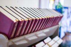 As Bíblias em Alexander Church foto de stock