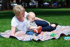 as baby football horizontal mom watches στοκ φωτογραφίες με δικαίωμα ελεύθερης χρήσης
