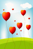 as background baloon heart sky vektor illustrationer