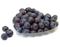 As bagas de uma uva-do-monte formaram em uma forma do cora? Imagens de Stock Royalty Free