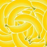 As bananas amarelas frescas doces vector a ilustração Imagens de Stock