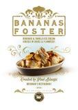 As bananas da coleção da cultura de Nova Orleães promovem a sobremesa imagens de stock royalty free
