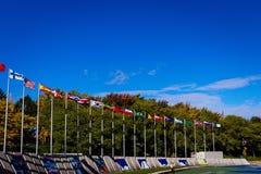 As bandeiras fotos de stock royalty free