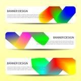 As bandeiras abstratas do vetor com linhas onduladas brilhantes molde futuro do cartaz dos moldes do projeto do informe anual pro ilustração do vetor