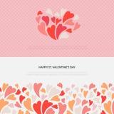 As bandeiras bonitos e bonitas do vetor ajustaram-se para St Valentine Day ilustração stock
