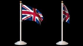 As bandeiras do mundo dão laços no bloco 6 em 1 com fundo vídeos de arquivo