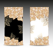 As bandeiras florais abstratas ajustadas com flores descascam o SE Imagem de Stock