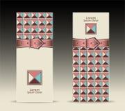 As bandeiras ou com teste padrão geométrico da curvatura da correia ret ilustração royalty free