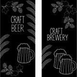 As bandeiras verticais da cerveja ajustaram 2 ilustração stock