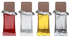 As barras de chocolate genéricas, apenas adicionam a arte finala Imagem de Stock Royalty Free