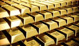 As barras de ouro de brilho no filme olham a classificação da cor Fotos de Stock Royalty Free