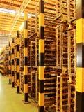 As barreiras do metal das colunas Imagem de Stock Royalty Free