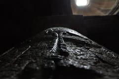 As bases da igreja de Surb Geghard Fotografia de Stock Royalty Free