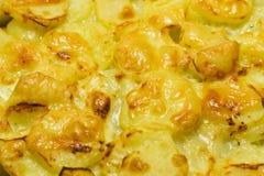 As batatas cozeram com queijo Fotografia de Stock