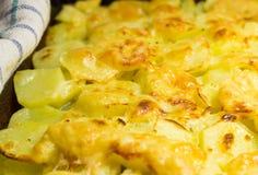 As batatas cozeram com queijo Fotos de Stock Royalty Free