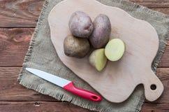 As batatas cruas Imagem de Stock