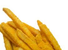 As batatas fritas agrupam no empacotamento de papel facial Imagem de Stock Royalty Free
