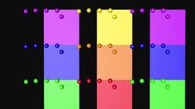As bolas da cor do arco-íris dão laços em mover-se, 3D que rende 4K ilustração stock