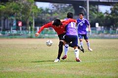 As bolas de futebol estão ferindo do socker em Tailândia Foto de Stock Royalty Free