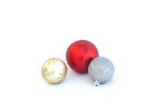 As bolas do Natal isoladas Fotos de Stock Royalty Free