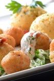 As bolas do queijo fecham-se acima Fotografia de Stock Royalty Free