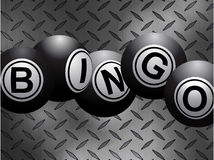 As bolas metálicas do bingo sobre o diamante do metal chapeiam o fundo ilustração stock