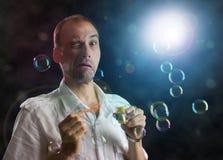 As bolhas de sabão Imagem de Stock