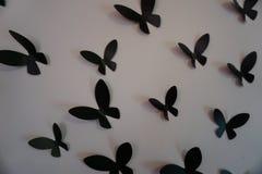 As borboletas da parede fecham-se acima imagem de stock royalty free