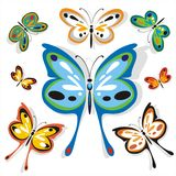 As borboletas educam o jogo três Imagem de Stock Royalty Free