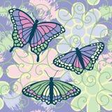 As borboletas estão livres ilustração stock