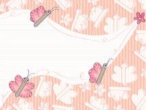 As borboletas seguem Flower_eps Foto de Stock