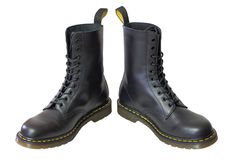 As botas altas de couro dos homens Foto de Stock Royalty Free