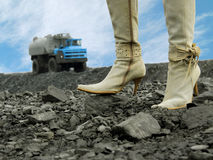 As botas das mulheres Foto de Stock Royalty Free