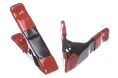 As braçadeiras de aço isolaram-se foto de stock royalty free