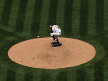 As Brad Ziegler winds up to throw a pitch Stock Image