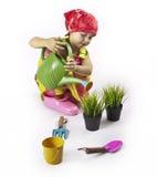 As brincadeiras o jardineiro Imagem de Stock
