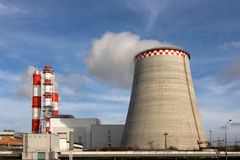 As câmaras de ar da central energética do gás e do petróleo. Foto de Stock