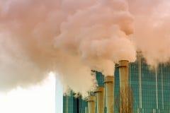 As câmaras de ar da planta com fumo Foto de Stock