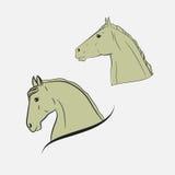 As cabeças de cavalo ilustração royalty free