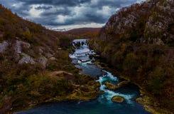 As cachoeiras bonitas no rio Una imagem de stock royalty free