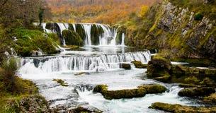 As cachoeiras bonitas no rio Una fotos de stock royalty free