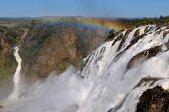 As cachoeiras de Ruacana, Namíbia Imagem de Stock