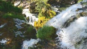 As cachoeiras de Slunj video estoque