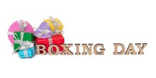 As caixas coloridas com palavras SÃO ESTÊVÃO, isolada no branco Imagem de Stock Royalty Free