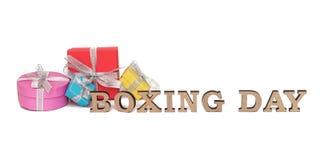 As caixas coloridas com palavras SÃO ESTÊVÃO, isolada no branco Fotografia de Stock Royalty Free