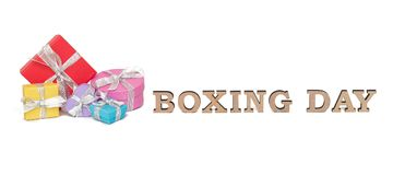 As caixas coloridas com palavras SÃO ESTÊVÃO, isolada no branco Fotos de Stock