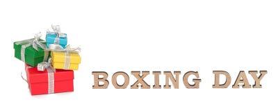 As caixas coloridas com palavras SÃO ESTÊVÃO, isolada no branco Imagem de Stock