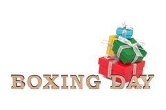 As caixas coloridas com palavras SÃO ESTÊVÃO, isolada no branco Fotos de Stock Royalty Free