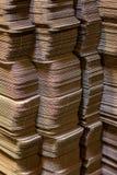 As caixas de cartão corrugado aplainaram imagem de stock royalty free