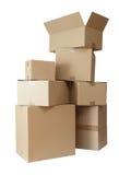 As caixas de cartão empilham o pacote Imagem de Stock